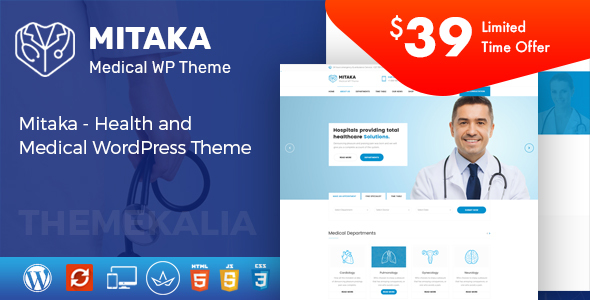 Mitaka – Health and Medical WordPress Theme