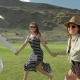 Trendy Hipster Girls Having Fun Outdoor. Three Cute Women Are Whirling on Green Grass. Best Friends. - VideoHive Item for Sale