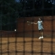 Young Girl Blocking the Ball with the Tennis Racket During the Training - VideoHive Item for Sale
