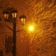 Amazing Snowfall in the Light of a Street Lamp - VideoHive Item for Sale