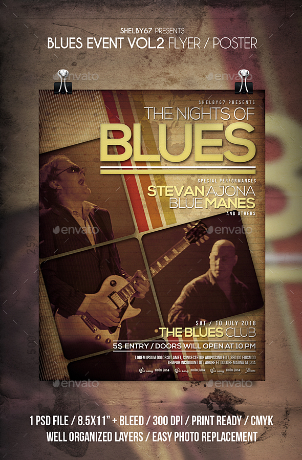 Blues Event Flyer / Poster Vol 2 - Events Flyers
