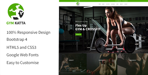 Image of Fitness Template -  Fitness HTML5 Responsive Multipurpose Templates.