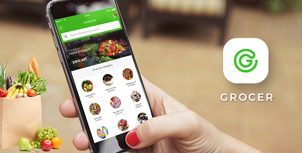Grocery Android + iOS App Template (HTML + CSS files in IONIC 3) | Grocer - CodeCanyon Item for Sale