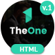 TheOne - One Page Parallax Responsive HTML5 Template - ThemeForest Item for Sale