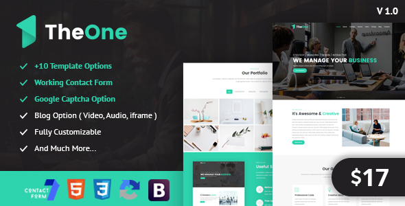 TheOne - One Page Parallax Responsive HTML5 Template