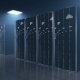 Server Room in Datastore with Clouds Reflection - VideoHive Item for Sale