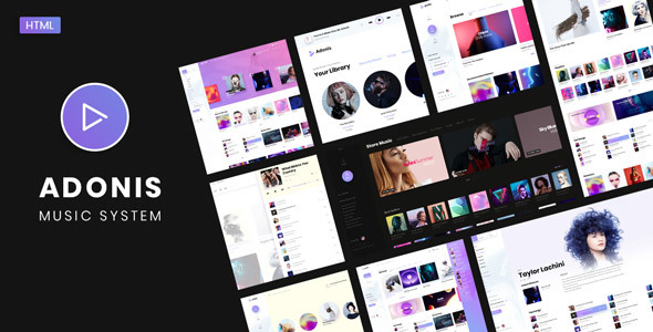 Adonis | Music System Template - Music and Bands Entertainment
