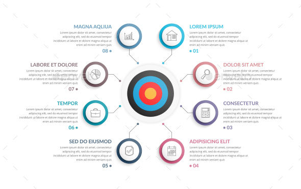 Circle Diagram with Target - Infographics