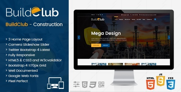 BuildClub - Architect and Construction Joomla Template - Business Corporate