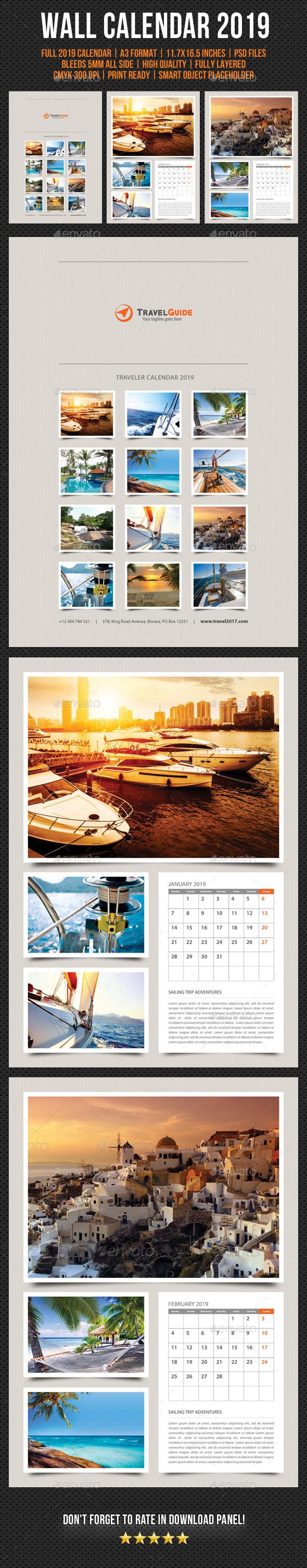 Wall Calendar 2019 V20 - Calendars Stationery