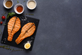 Salmon red fish juicy fillet grilled on barbecue - PhotoDune Item for Sale