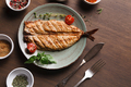 White fish juicy fillet grilled on barbecue - PhotoDune Item for Sale