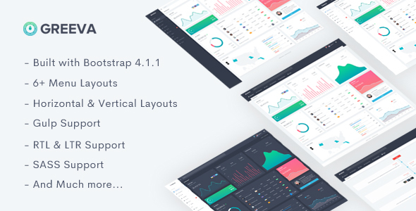 Image of Greeva - Responsive Admin Dashboard Template