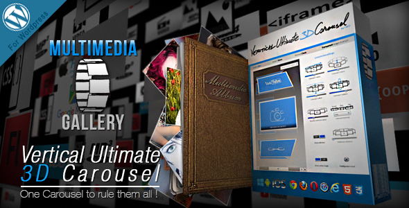 Vertical Ultimate 3D Carousel Wordpress Plugin - CodeCanyon Item for Sale