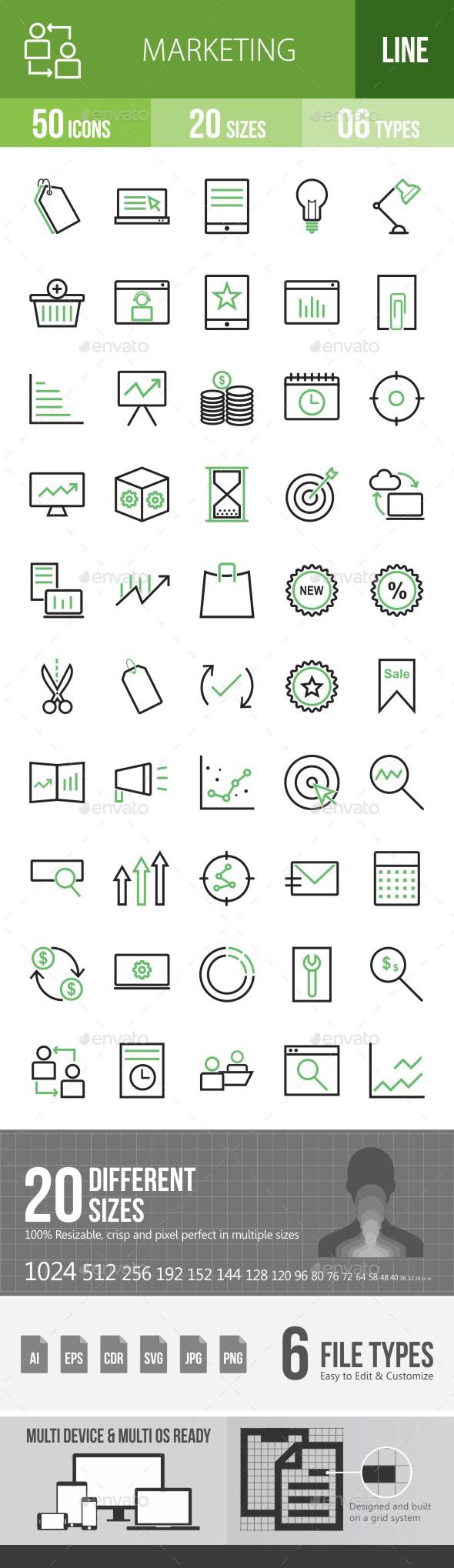 Marketing Green & Black Icons - Icons