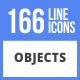 166 Objects Filled Line Icons