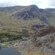 Aerial View of Ogwen Valley with Llyn Ogwen in Snowdonia, Gwynedd, North Wales, UK - Great Britain - VideoHive Item for Sale