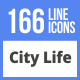 166 City Life Filled Line Icons - GraphicRiver Item for Sale