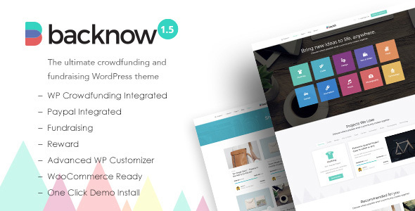 Backnow - Crowdfunding and Fundraising WordPress Theme