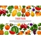 Vector Poster of Fresh Garden or Tropical Fruits - GraphicRiver Item for Sale