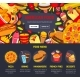 Vector Fast Food Web Site Landing Page Template - GraphicRiver Item for Sale