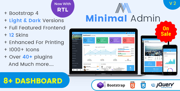 Image of Minimal - Responsive Bootstrap 4 Admin Dashboard & WebApp Templates