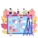 Scrum Task Board - Big Agile Organizer with People - GraphicRiver Item for Sale