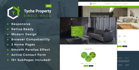 Tyche Properties- Single Property Real Estate WordPress Theme - Real Estate WordPress