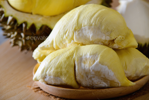 Durian fruit on table - Stock Photo - Images