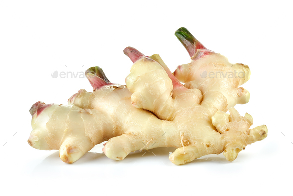 ginger on white background - Stock Photo - Images