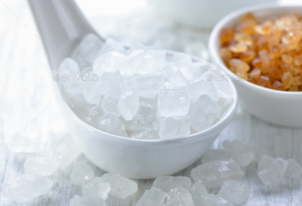 white rock sugar - Stock Photo - Images