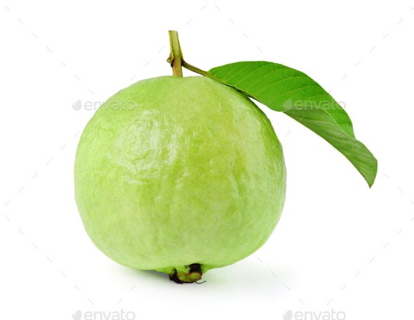 Guava on white background - Stock Photo - Images