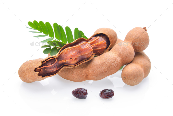 Tamarind on white background - Stock Photo - Images