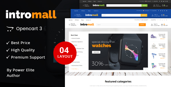 Intromall - Multipurpose OpenCart 3 Theme