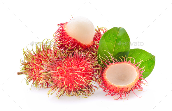 rambutan isolated on the white background - Stock Photo - Images