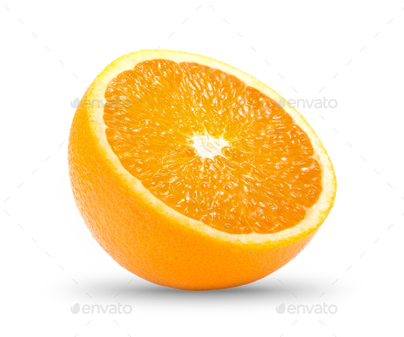 orange slice  isolated on white background - Stock Photo - Images