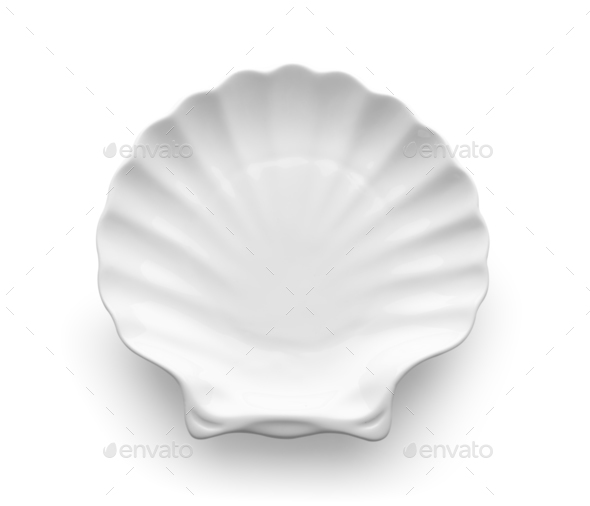 modern ceramic plate on white background - Stock Photo - Images