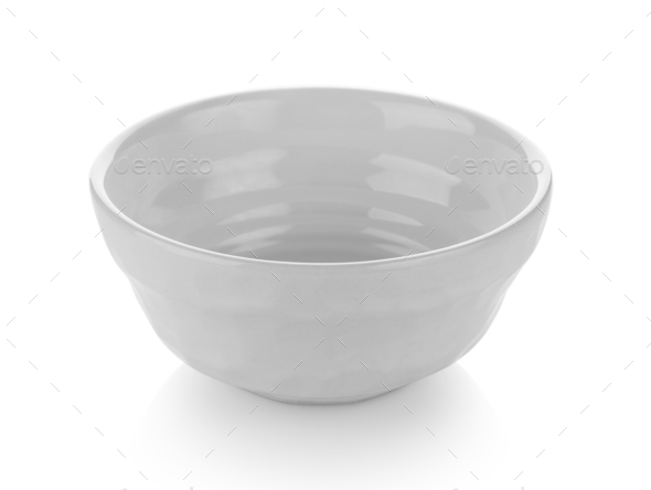 bowl isolated on white background - Stock Photo - Images