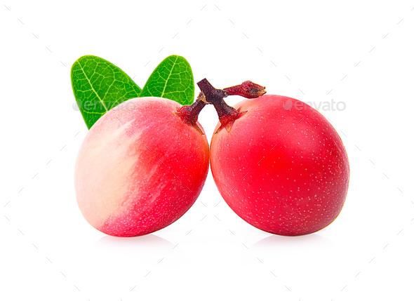 bengal-currants, carandas-plum, isolated on white background. - Stock Photo - Images