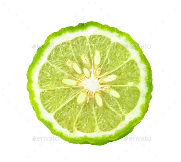 bergamot on white background - Stock Photo - Images