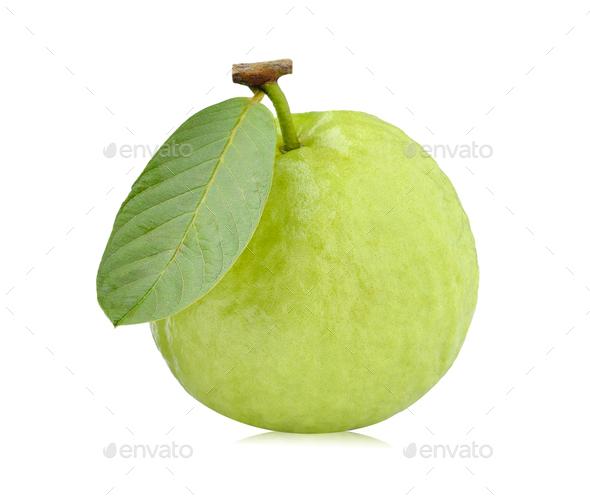 guava fruit isolated on white background - Stock Photo - Images