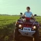 Group of People, a Company of Friends Driving Off-road with Quad Bike or ATV - VideoHive Item for Sale