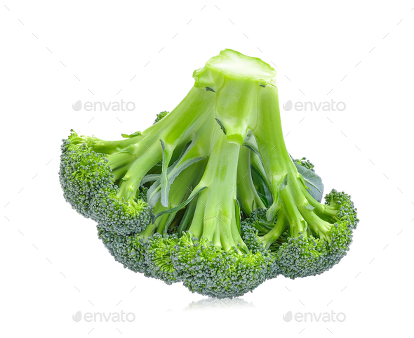 Broccoli on white background - Stock Photo - Images