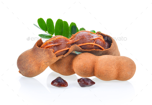 Tamarind isolated on the white background - Stock Photo - Images