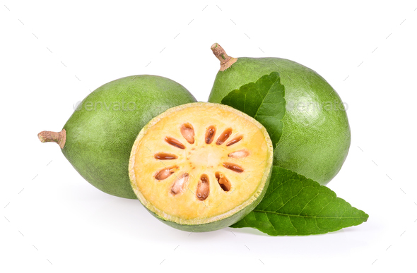 Bael fruit on white background - Stock Photo - Images