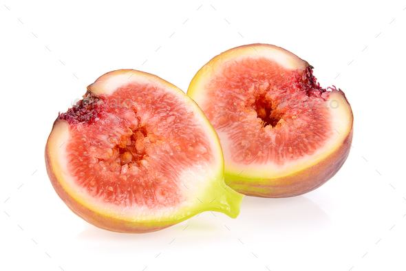 figs isolated on white background - Stock Photo - Images