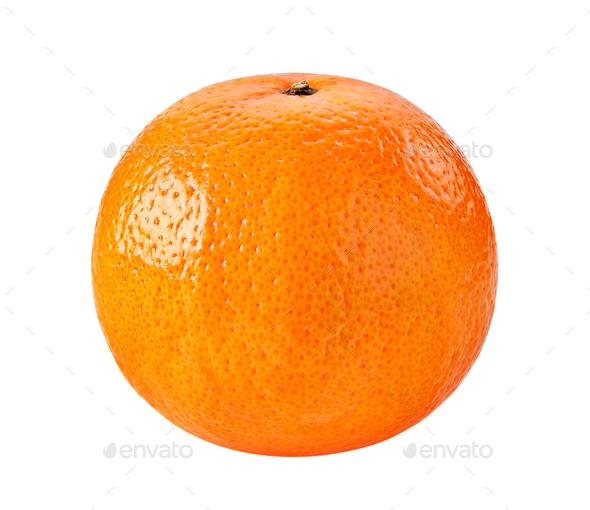Ripe orange isolated on white background - Stock Photo - Images