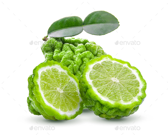 Bergamot isolated on white background - Stock Photo - Images