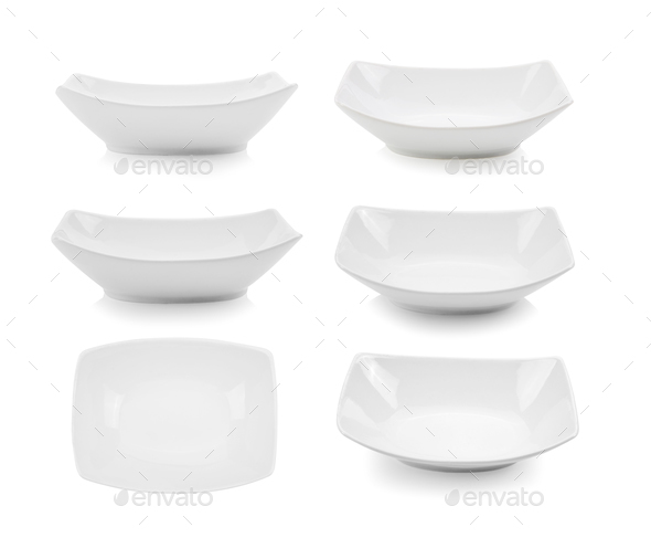 white bowl on white background - Stock Photo - Images