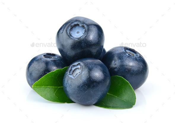 Blueberry isolated on white background - Stock Photo - Images